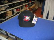 "MiLB-LANCASTER JETHAWKS-BLACK CAP W/ PURPLE ACCENTS & RED ""L"" LOGO-SIZE 6 7/8"