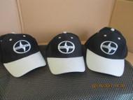 "SCION LOT OF 3 BLACK CAP HAT ""SCION"" & LOGO IN BLACK & GRAY-GRAY BILL AND TRIM"