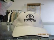 "TOYOTA-NATURAL CAP W/ ""TOYOTA"", LOGO & EYELETS IN BLACK-METAL BUCKLE ADJ"