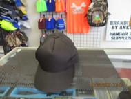 VINTAGE NOS ALL BLACK Cap Hat 5 PANEL BLANK SNAPBACK BY OC