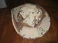Vintage NOS Desert Storm US Military 6 Color Desert Camo Boonie Hat 6 7/8 USA!!