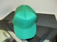 VINTAGE NOS GREEN Cap Hat 1 PUFFY FRONT 1 ROPE TRUCKER 5 Panel