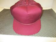 VINTAGE NOS MAROON/DARK RED CAP HAT-5 PANEL-TRUCKER- ROPE-OC
