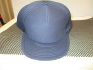 VINTAGE NOS NAVY BLUE Cap Hats-5 PANEL-FULL PUFFY-ROPE-METAL EYE
