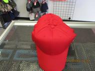 VINTAGE NOS RED CAP HAT-6 PANEL-TEAM MLB LOGO-HOOK & LOOP-BY OUTDOOR-OSFM