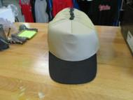 VINTAGE TRUCKER NOS KHAKI CAPS/HATS-BLACK BILL/BUTTON-5 PANEL- By OTTO Cap