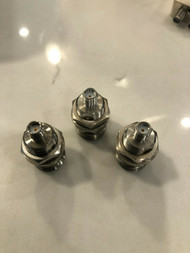 Precision HP N (female) Bulkhead to SMA (Female) Adapter LOT of 3 FREE SHIPPING