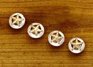 Domed Rim Gold Star Tuxedo Studs