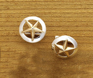 Domed Rim Gold Star