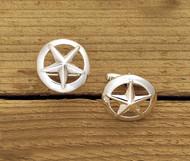 Domed Rim Silver Star