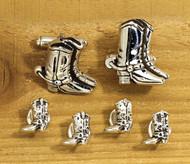 Western Boot Cufflink & Tux Stud Set