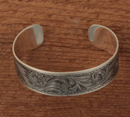 "Sterling engraved cuff  3/4"" wide"