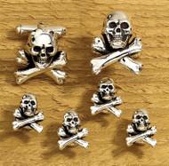 Skull with Crossbones Cufflinks & Stud set