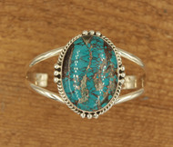 Large Turquoise Stone Cuff 5