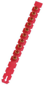Red Powder Actuated Cartridge Strips