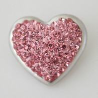 PINKY  CLUSTER PAVE CRYSTAL HEART