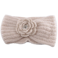 KNIT HEADBAND - CREAM