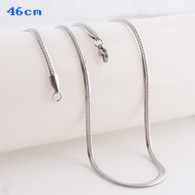 SIMPLE SNAKE CHAIN- SILVER (46CM)