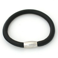 ZILLION BLACK SINGLE LEATHER BRACELET
