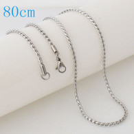 STUNNING ROPE CHAIN- SILVER (80CM)