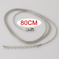 SIMPLE SNAKE LONG CHAIN- SILVER