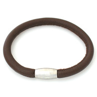 ZILLION BROWN SUGAR SINGLE LEATHER BRACELET