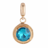 Z-CHARM GOLD AZURE GLASS DANGLE