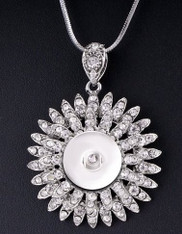 PENDANT - MAJESTY FLOWER MARCASITE