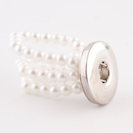 SENTIMENTS PEARLS ADJUSTABLE RING - 20MM