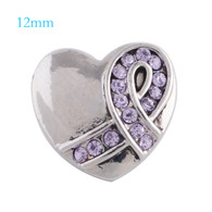 MINI HEART - PURPLE RIBBON