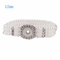 STRAND THREE LAYERS PEARLS BRACELET - WHITE