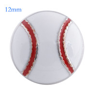 MINI BASEBALL - WHITE & RED