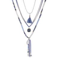 DUBAI MULTILAYERS NECKLACE - BLUE