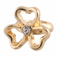 Z-CHARM GOLD  FLOWER HEART