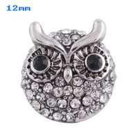MINI DIAMOND CLUSTER PAVE CRYSTAL OWL