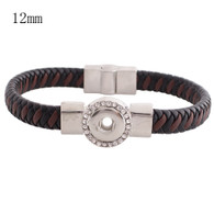 BRACELET - CHOCOLATE & COCOA LEATHER