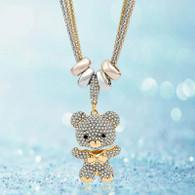 NECKLACE - TENDER LOVELY BEAR (GOLD)