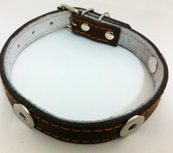 LEATHER COLLAR - BIG DOG (BROWN)