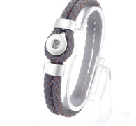 BRACELET - 12MM DOUBLE LEATHER - COFFEE