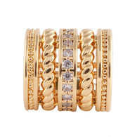 Z- CHARM GOLD ROLO DIAMONDS