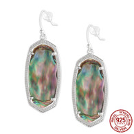 LISS - IRIDESCENT ABALONE SHELL (EARRINGS)