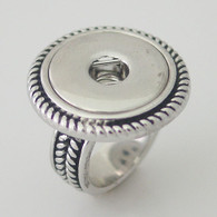 RING - BIG ROPE SILVER (SIZE 8)