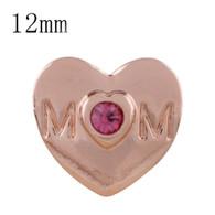 MINI ROSEGOLD HEART - DIAMOND PINK