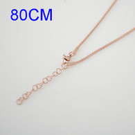 SIMPLE SNAKE LONG CHAIN- ROSE GOLD