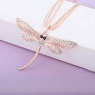NECKLACE - DRAGONFLY (RG)