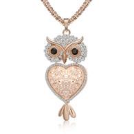 NECKLACE - LAVISHNESS OWL (RG)