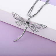 NECKLACE - DRAGONFLY (BLACKSILVER)