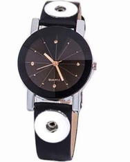 WATCH - LEATHER (GOLD DETAILS)