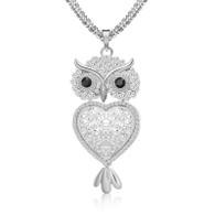 NECKLACE - LAVISHNESS OWL (SILVER)