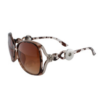 SUNGLASSES - STYLISH SILVER ROSE (GIRAFFE)